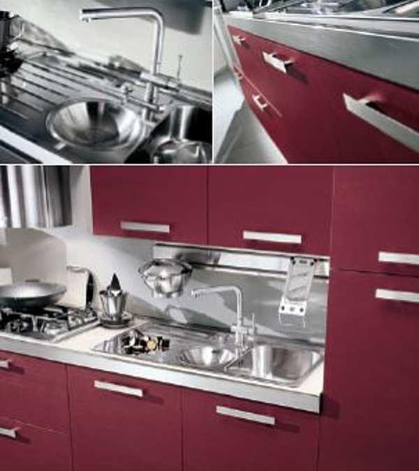 Cucina HOME CUCINE Frontali finitura Rubino e Neve
