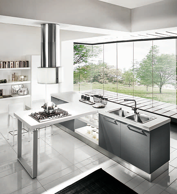 Cucina HOME CUCINE frontali grigio cielo
