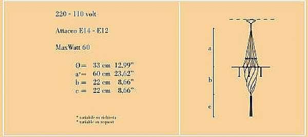 Lampadario ARCHEO VENICE DESIGN 401-DB
