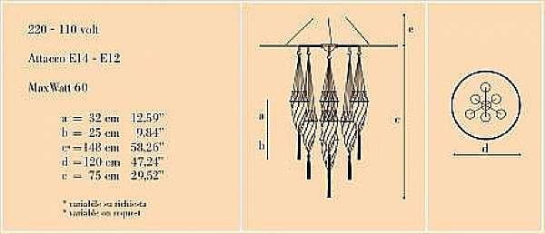 Lampadario ARCHEO VENICE DESIGN 101DBV7