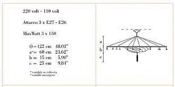 Lampadario ARCHEO VENICE DESIGN 311-00