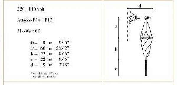 Lampade da muro ARCHEO VENICE DESIGN 402-00