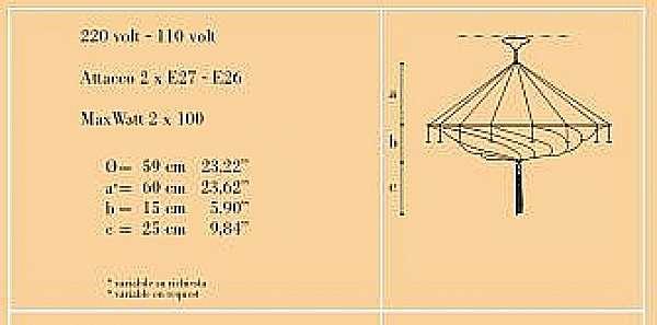 Lampadario ARCHEO VENICE DESIGN 301-00