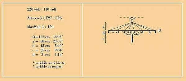 Lampadario ARCHEO VENICE DESIGN 301-DB