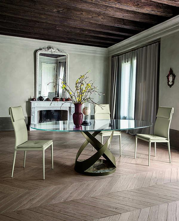 Tavolo TONIN CASA CAPRI - 8069FSV_glass Mood Italian History