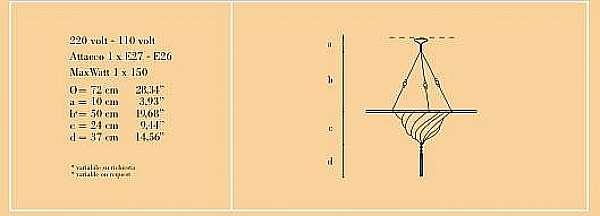 Lampadario ARCHEO VENICE DESIGN 201-FD