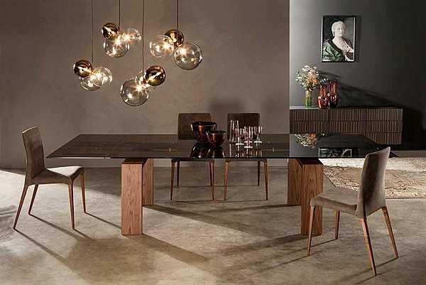 Tavolo TONIN CASA BROOKLYN - 8000_glass Tavoli e Sedie