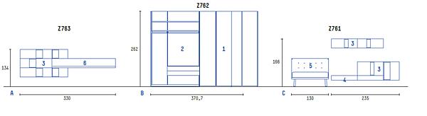Composizione Z761 Z762 Z763 SCHEMA LIBERO