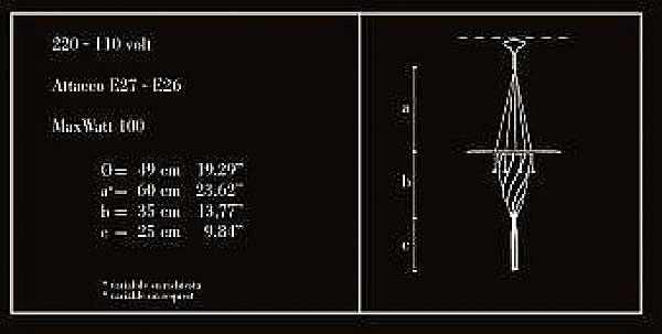 Lampadario ARCHEO VENICE DESIGN 111-00