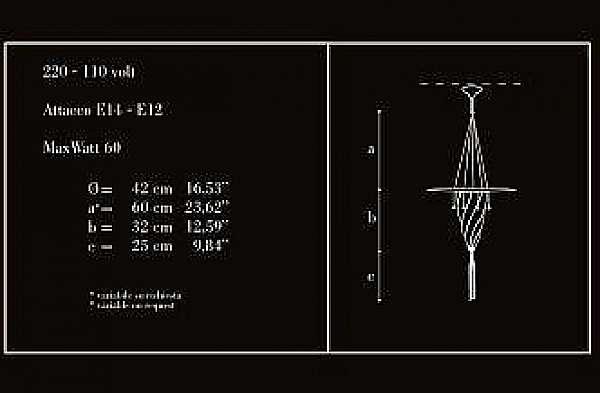 Lampadario ARCHEO VENICE DESIGN 105-DB